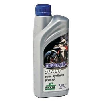 Aceite semisintético Rock Oil para motocicleta 10W40. 1 litro: Amazon.es: Coche y moto