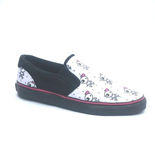 Osiris Skateboard Schuhe / Slip Ons Scoop Girls Kids Black / Becky Bones - Slipper Slip On