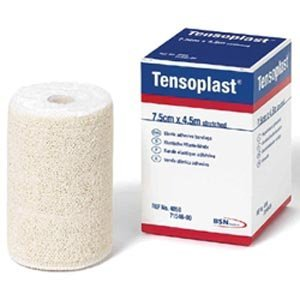 BSN Medical 02594002 TENSOPLAST Elastic Adhesive Bandage 2'' x 5 yd. Size, White (Pack of 36)