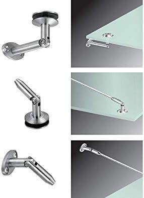 Haltestangen V2A Edelstahlbeschl/äge f/ür Glasvord/ächer 800 mm Beschl/äge ohne Glas