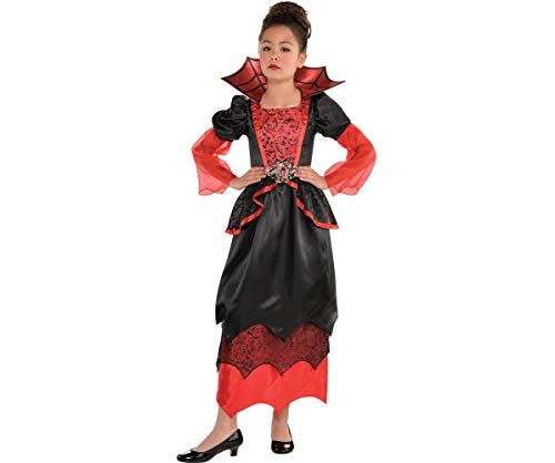 Amscan 846880 Girls Vampire Queen Costume - X-Large (14-16), Black
