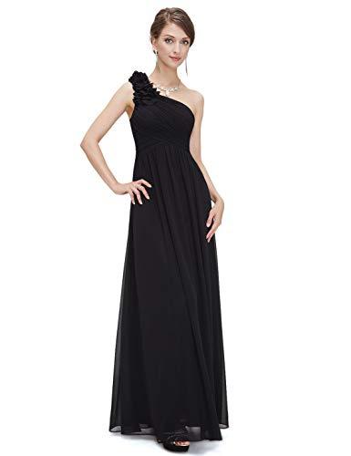 Largos Noche Elegantes Negro Vestido Mode Mangas Moda Hermosa Vestidos Hombro Festivo Noble Un Fiesta Marca De Novia Sin 8qtx1BEF