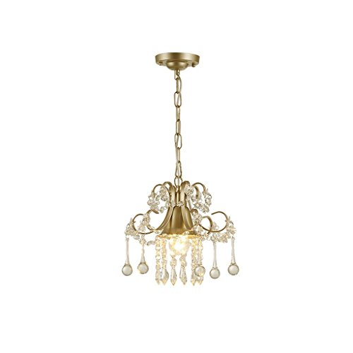 DIDIDD Ceiling Chandelier-Chandelier French Champagne Gold Crystal Chandelier Aisle Lights Kitchen and Toilet Lights Garden Lights E27 Size-22Cm (French Garden Champagne)