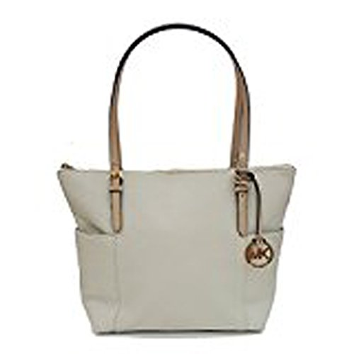 Michael Kors Jet Set East West Top Zip Leather Tote by Michael Kors