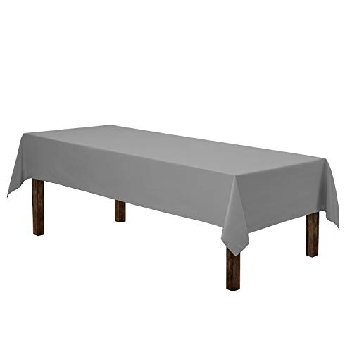 Gee Di Moda Rectangle Tablecloth - 60 x 102' Inch - Charcoal Rectangular Table Cloth for 6 Foot Table in Washable Polyester - Great for Buffet Table, Parties, Holiday Dinner, Wedding & More