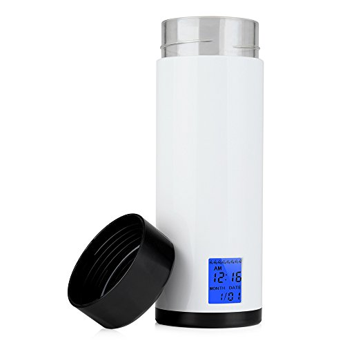 Drink Water Reminder, PYRUS 320ml Smart Cup Health Sensor 8 times Drinking Reminder Alarm with LED Screen Display