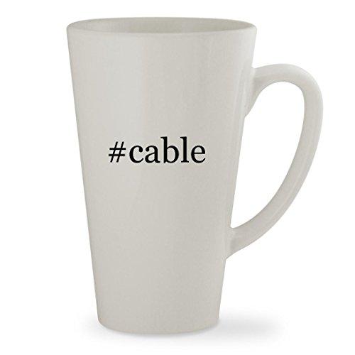 #cable - 17oz Hashtag White Sturdy Ceramic Latte Cup Mug