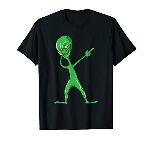 Dabbing Alien Halloween Costume Funny Gift for Boy Kids Mens ()