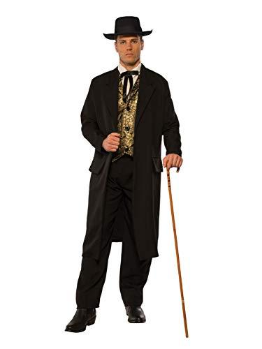 Pizazz! Men's Adult Swindler Costume, Black/White/Gold, -
