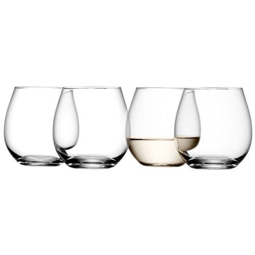 LSA International 370 ml Stemless Wine Tumbler, Clear (Pack of 4)