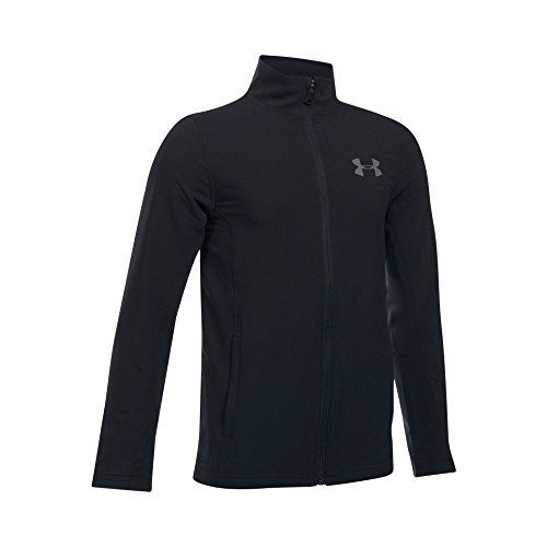Under Armour Boys' Construkt Woven Jacket,Black (001)/Graphite, Youth Large ()