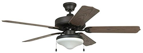 - Litex E-WOD52ABZ5C 52-Inch Aged Bronze Ceiling Five Reversible Weathered Oak ABS Fan Blades and Single Light Kit Frosted Glass