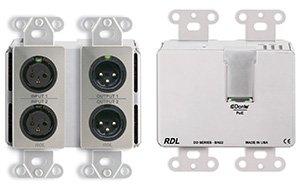 RDL dds-bn22壁掛け式双方向Mic / Line Danteインターフェイス2 x 2、ステンレス   B0745H7ZZ6