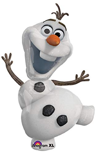 Frozen Winter Snowman Snowflake Party Balloons Sets (Jumbo Olaf The Snowman, 5 Count)