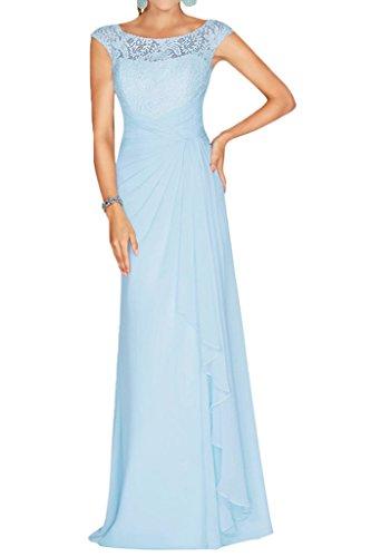 La Partykleider Braut Spitze Abschlussballkleider Linie Chiffon Ausschnitt Brautmutterkleider Abendkleider Blau mia A Himmel U Weinrot rHnxwg8rqT