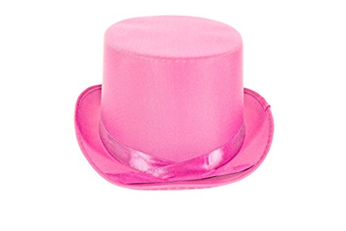 [Dress Up Party Costume TOP Hat (Pink)] (Pink Top Hats)