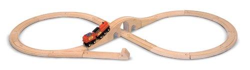 Melissa & Doug Classic Wooden Figure Eight Train Set (22 pcs) ()