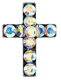 STUDEX SENSITIVE GOLD PLATED CRYSTAL AB CROSS ()