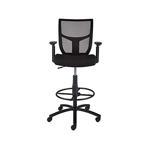 - Staples 2262751 Cabal Mesh and Fabric Stool Black
