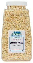 Harmony House Foods, Dried Onions, Chopped, 16 Ounce Quart Size Jar