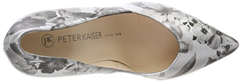 Peter Kaiser Women's Danella Closed Toe Heels, Multicoloured, 3 UK Grey (Silber Blossons 672)