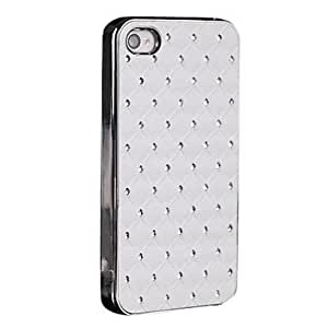 JJE Chrome and Sticker with Diamond PC Case for iPhone 4/4S (Assorted Colors) , Coffee