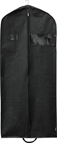 Simplehousware 60-Inch Heavy Duty Garment Bag for Suits, Tuxedos, Dresses, Coats