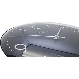 "NeXtime Reloj de pared ""BASIC DOME"", muy silencioso, redondo, negro, ø 35 cm 3"