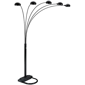 Sqf 5 Arm Arch Floor Lamp Bk Gold Silvel Black