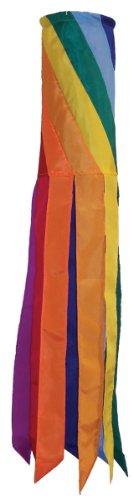 In the Breeze Rainbow Diagonal Windsock, 40-Inch