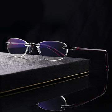 Women's Lightweight Anti-fatigue Anti-blu-ray Integrated Frameless Reading Glasses 8015 - Eye Care Reading Glasses - (3.0) - -