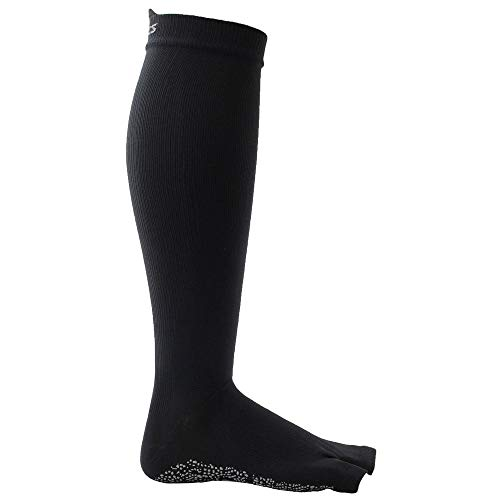ASICS Women's Studio No-Slip Compression Knee High Sock, Medium, Performance Black