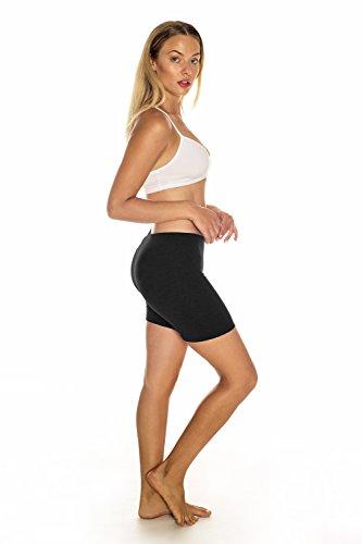 Womens InTouch Activewear Basics Ladies Jersey Cotton Shorts, Black - Medium