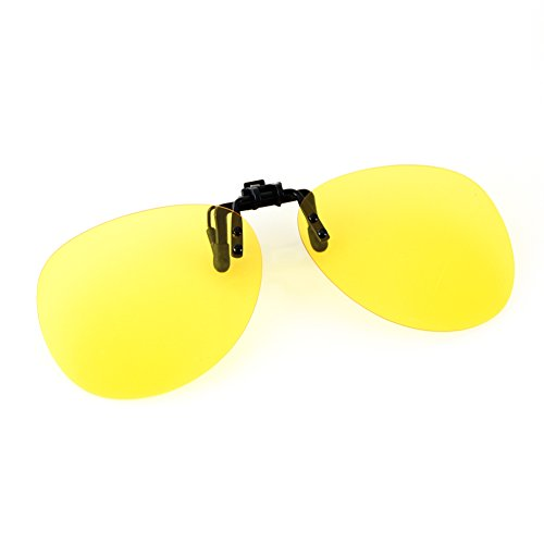 (Cyxus UV Blocking Polarized Sunglasses with Clip On Night Vision Lens Anti Glare)