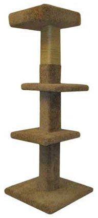 Wood Cat Tower Furniture Climbing Sisa Post, Gray Carpet, My Pet Supplies