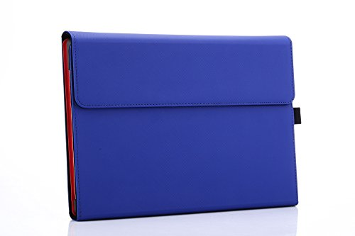 Microsoft Surface 3 Case, Compatible Surface 3 Type Cover, Valkit Folio Slim PU Leather Stand Cases and Covers With Stylus Pen Holder Compatible for Surface 3 10.8 inch Original Keyboard, Blue by Valkit