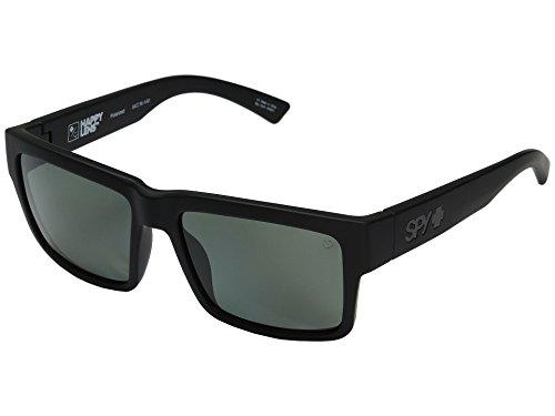 Spy Optic Montana Sunglasses Matte Black w/ Happy Grey Green Polarized Lens + - Spy Flynn Glasses
