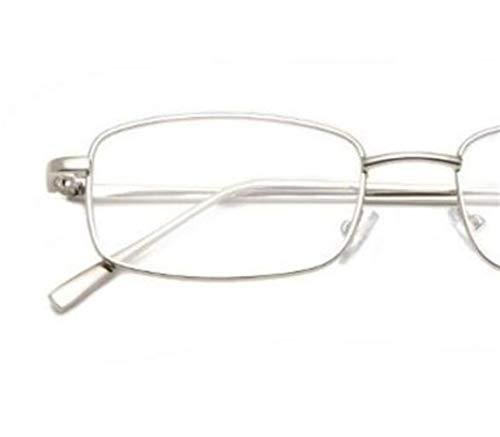 vidrios de visten los UV400 Kangqi ojo hombres los Silver Las mujeres para la del Gafas señoras conducir marco metal del de protectoras para del decoración las viajar v8vzgX