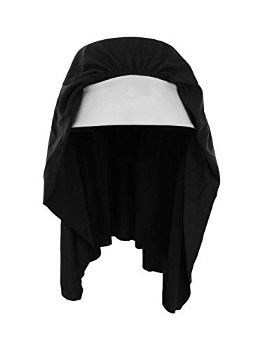 Nicky Bigs Novelties Nun Habit Headpiece Costume Hat, Standard Size Black White]()