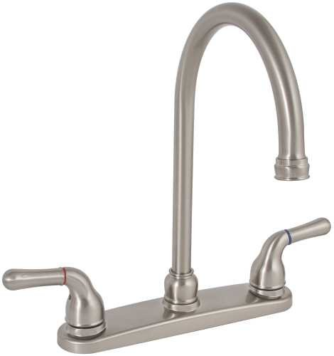 PREMIER GIDDS-120197LF Wellington High-Arc Kitchen Faucet with Two Handles, Brushed Nickel, Lead Free