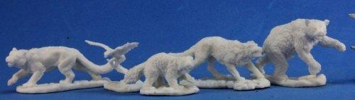 Reaper 77216: Companion Animals (5) Dark Heaven Bones Plastic - Tiger Miniature