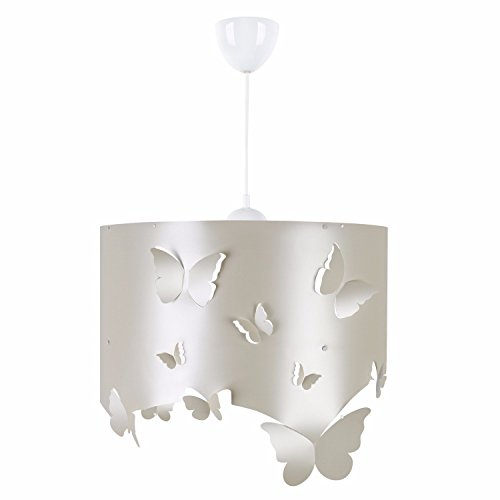 LaModaHome Lifes from Nature Chandelier Butterflies on The Surface Modern Decorative  Hang Ceiling Lighting Fixture for Home amp Office Living Room Study Room