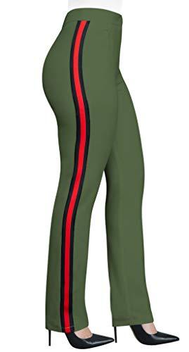 Alta Donna Fox Patchwork Fräulein a Casual Pants Lungo Pantaloni Skinny Moda Vita 1qdxwf0