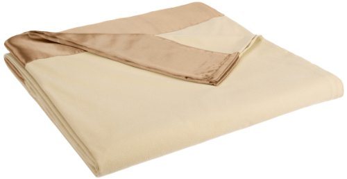 (Shavel All Seasons Year Round Sheet Blanket with Satin Hem, Full/Queen, Chino)