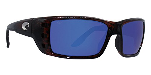 Costa Del Mar Permit Sunglass, Tortoise/Blue Mirror 580Glass