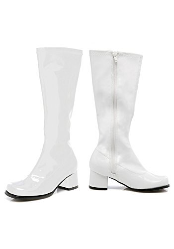 Toddler White Gogo Boots M (Toddler Size 12) (White Gogo Boots For Kids)