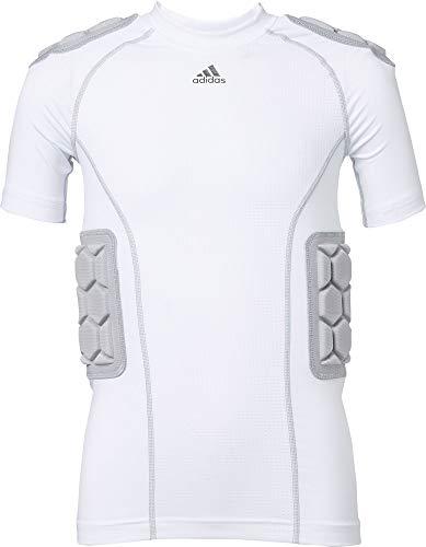 adidas Youth Techfit Padded Football Shirt (White, Medium) (Adidas Football Shirt)