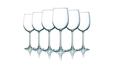 Platinum Band Clear Colored Wine Glasses - 19 oz. set of 6- Additional Vibrant Colors Available ()