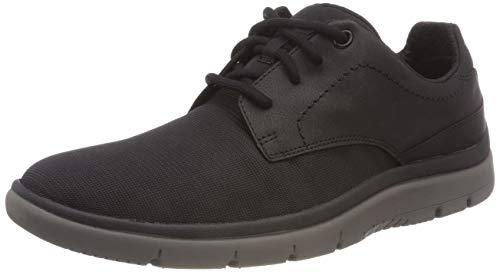 Clarks Herren Tunsil Plain Sneaker Schwarz (Black Mesh ----)