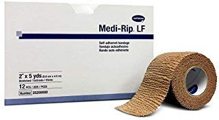 Medi-Rip Self-Adherent Bandage, 2'' X 5 Yards - MS36120 (12 Rolls) by Dukal